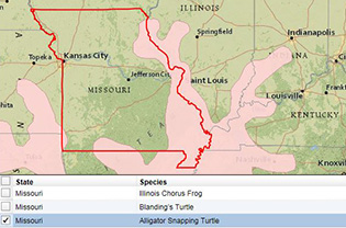 Interactive map screenshot