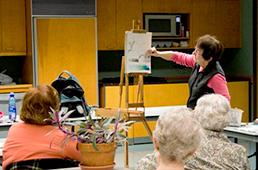 Instructor demonstrating technique