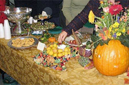 Table decked out for autumn feast