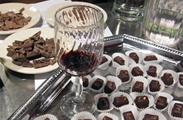 Chocolates and a glass of wine