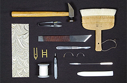 Tools and supplies for book binding