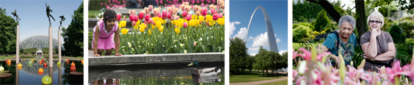 Missouri Botanical Garden and Gateway Arch images