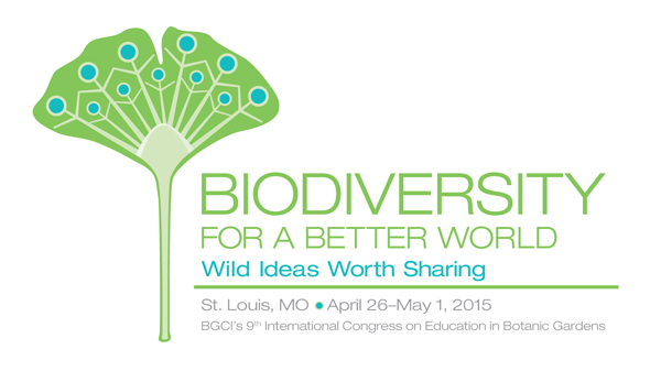 BGCI 2015 logo: Biodiversity for a Better World-Wild Ideas Worth Sharing