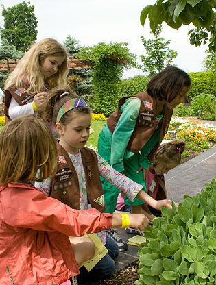 Brownies explore Kemper Center for Home Gardening
