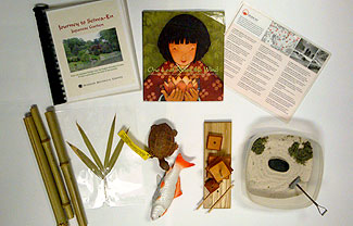 Japanese Garden Family Backpack contents