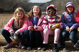 Girl Scouts at Shaw Nature Reserve