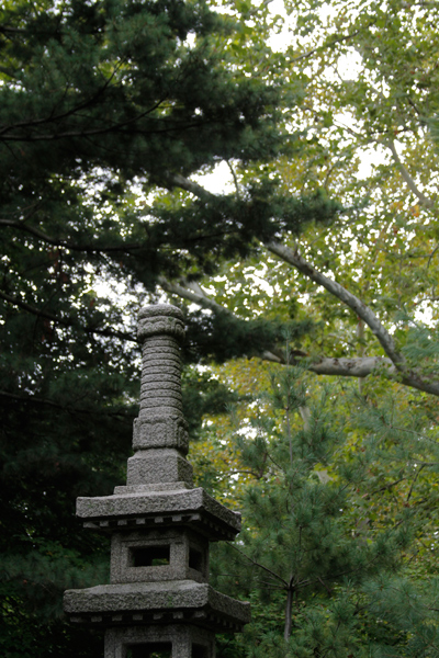 Stone pillar on Teahouse Island