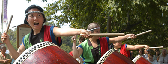 Taiko drummers at Japanese Festival