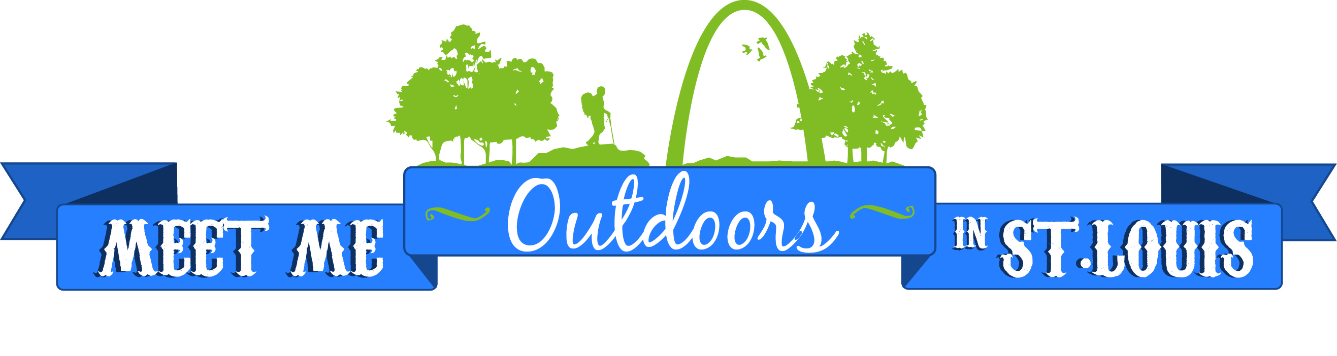 Meet Me Outdoors in St. Louis horizontal logo