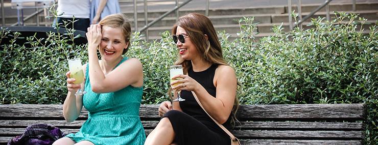 Ladies enjoying drinks at Sensational Summer Nights