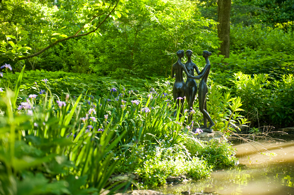 Enjoy more than three acres inspired by a traditional english garden