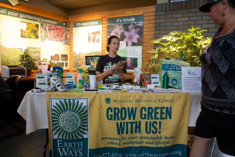 A Green Homes Festival volunteer
