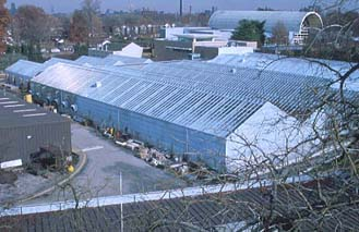 Outside of greenhouses