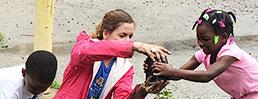 Educators working with children