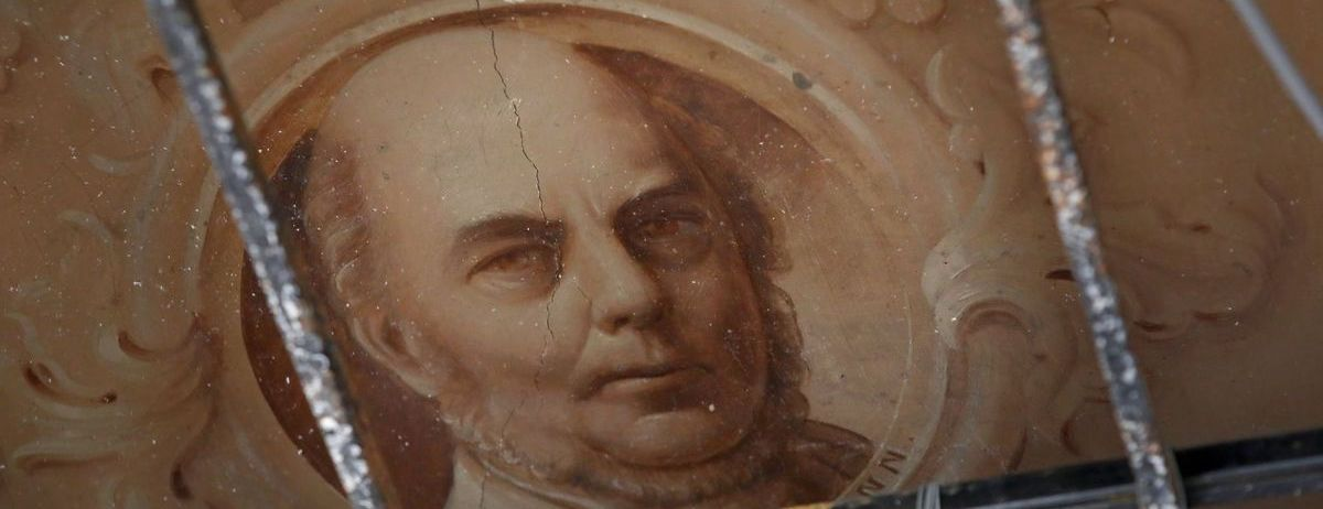 George Englemann portrait on Museum Building ceiling