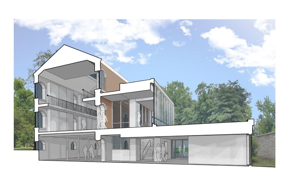Museum rendering cross section