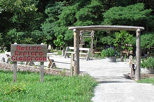 Entrance to Nature Explore Classroom