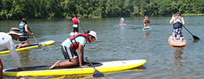 Paddlers learn to stand up
