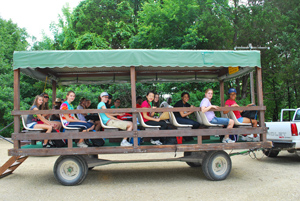 Passengers on Wilderness Wagon