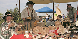 Demonstration table at Prairie Day