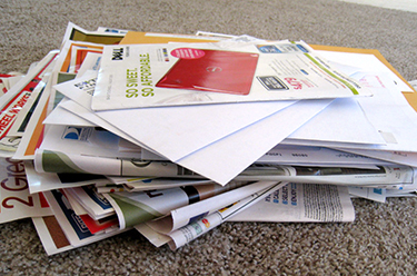 Junk Mail for paper making