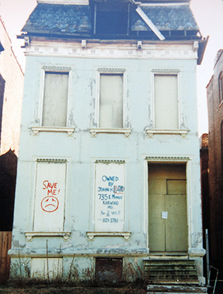 Facade of Gerard Home before renovation