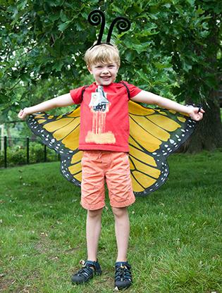 Boy in butterfly costume
