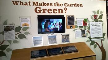 What makes the Garden green?