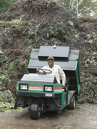 Composting garden waste