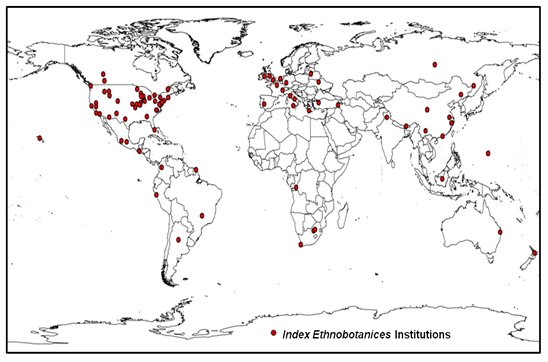 Map of biocultural collections