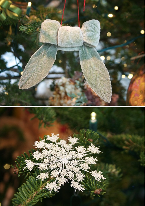 Natural Holiday Tree Decorations