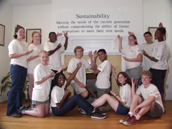 A youth group learns the meaning of sustainability
