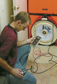 Contractor testing blower