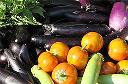 Brightly-colored vegetables