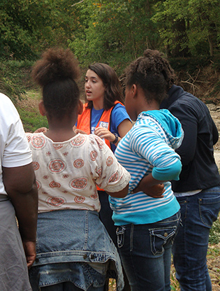 ECO-ACT participant teaching on a field trip