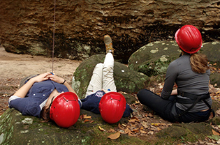 ECO-ACTors waiting to climb