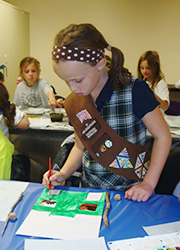 Girl scout painting