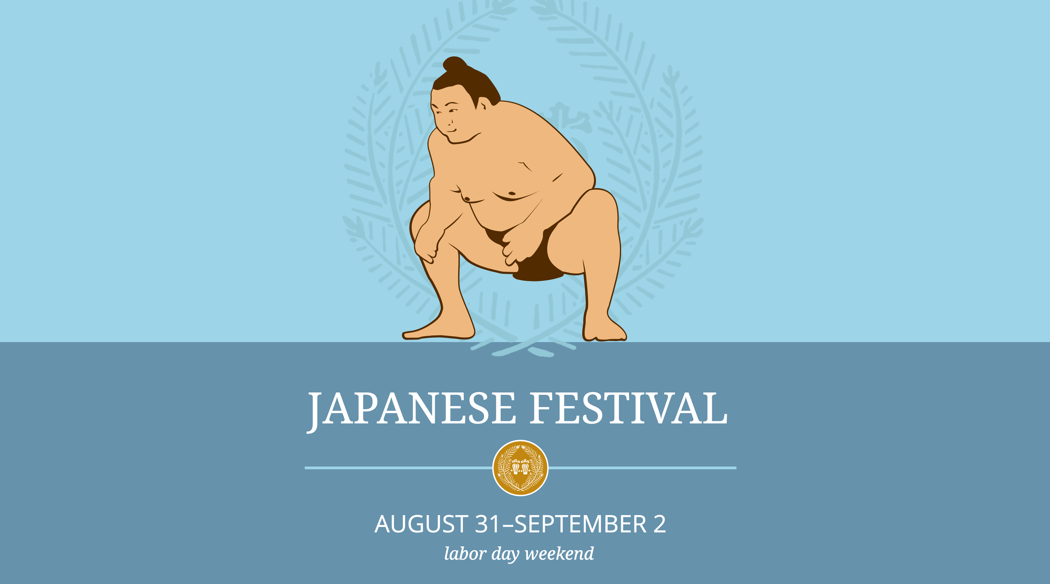 Japanese Festival sumo graphic banner