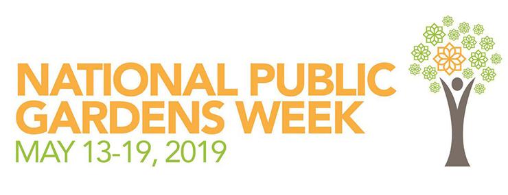 National Public Gardens Week logo