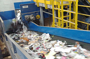 single stream recycling center