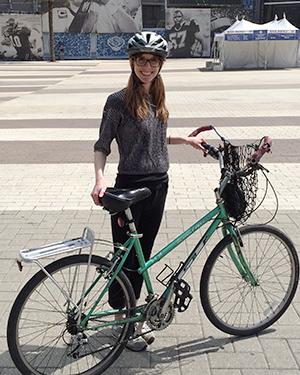 Bicyclist and Bike
