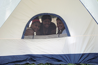 ECO-ACT participants in tent.