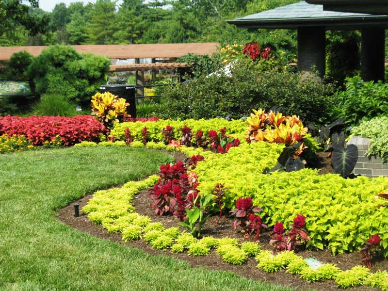 Lawn Landscape Garden Design, Flowers Gardens And Landscapes