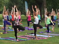 Yoga on the Garden grounds